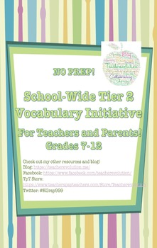 Tier 2 Words of the Day - Whole School Program (gr.7-12)