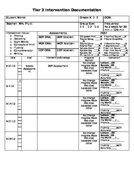 Tier 3 Documentation Form (2) EDITABLE