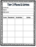 RTI Tier 3 Lesson Plans and Notes
