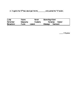 Tier I-II Vocabulary Quiz Week 6