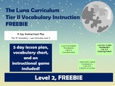 Tier I Vocabulary Instruction - Level 2, FREEBIE