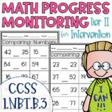 Tier II Math Intervention Progress Monitoring Kit for 1st Grade 1.NBT.B.3