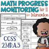 Tier II Math Intervention Progress Monitoring Kit for 2nd Grade 2.MD.A.3