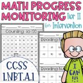 Tier II Math Intervention Progress Monitoring Kit for 1st Grade 1.NBT.A.1