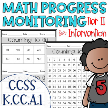 Tier II Math Intervention Progress Monitoring Kit for Kindergarten K.CC.A.1