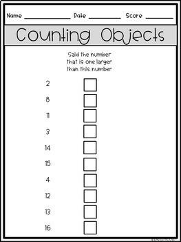 Tier II Math Intervention Progress Monitoring Kit for Kindergarten K.CC.B.4