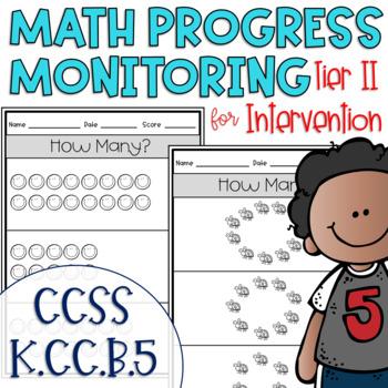 Tier II Math Intervention Progress Monitoring Kit for Kindergarten K.CC.B.5