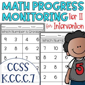 Tier II Math Intervention Progress Monitoring Kit for Kindergarten K.CC.C.7