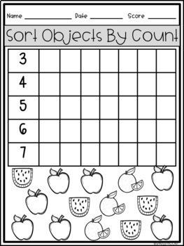 Tier II Math Intervention Progress Monitoring Kit for Kindergarten K.MD.B.3