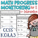 Tier II Math Intervention Progress Monitoring Kit for Kind