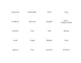 Tier II Vocabulary Antonym Match game (2 sets)