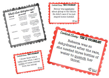Tier II Vocabulary Context Clue Task Cards - 7th grade