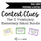 Tier II Vocabulary Task Cards for Elementary School BUNDLE