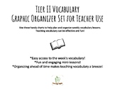 Tier II Vocabulary Organizer for Weekly Instruction