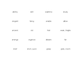 Tier II Vocabulary Synonym Match Game - 3rd grade words (2 sets)