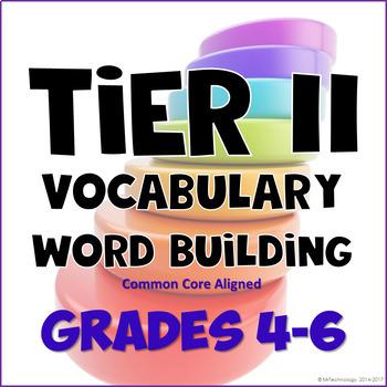 Tier II Vocabulary Building Bundle - Word Work & Activities