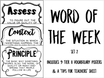 Tier II Word of the Week - Set 2