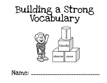 Tier 2 Words Weekly Workbook - Building a strong Vocabulary
