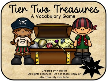Tier Two Treasures:  A Vocabulary Game (K-2nd grade)