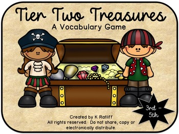 Tier Two Treasures:  A Vocabulary Game (3rd-5th grade)