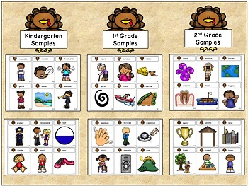 Tier Two Turkeys:  A Vocabulary Game (K-5th grade)