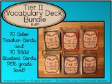 Tier Two Vocabulary Card Deck Bundle:  Elementary (K-5th)