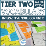 Tier 2 Vocabulary Interactive Notebook and Curriculum Units 2nd-5th Grade Bundle
