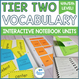 Tier 2 Vocabulary Interactive Notebook Units and Activities - 4th 5th Grade