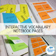 Tier Two Vocabulary Curriculum and Interactive Notebook -