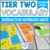 Tier 2 Vocabulary Interactive Notebook Units and Activities - 2nd and 3rd Grade