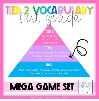 Tier Two Vocabulary Mega Game Set 1st Grade