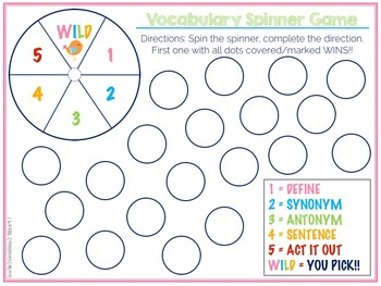 Tier Two Vocabulary Mega Game Set 2nd Grade