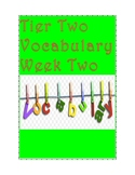 Tier Two Vocabulary-Week Two
