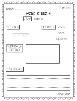 Tier Two Vocabulary Worksheets: 3rd and 4th Grade