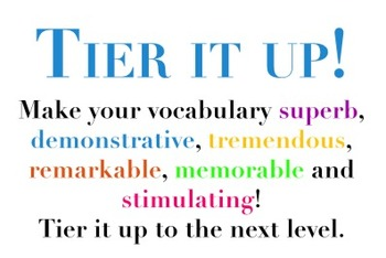 Tier Up Your Vocabulary Sign