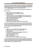 Tier three behavior management plan