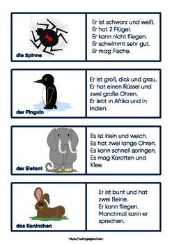 Tierdomino - Animal domino - Domino de animales, level A1 German