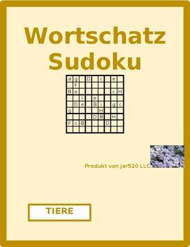 Tiere (Animals in German) Sudoku