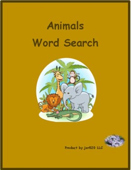 Tiere (Animals in German) wordsearch for differentiated learning
