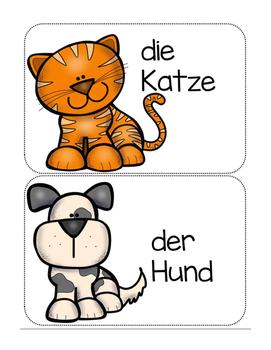 Tiere auf Deutsch- Animals in German