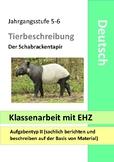 Tiere beschreiben Klassenarbeit - Test - Animals - German