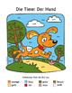Tiere und Farben: Der Hund ~ German Color Names Color-by-Word Dog, Pets, Animals