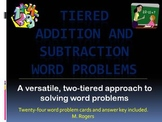 Tiered Addition and Subtraction Word Problem Cards