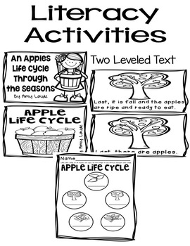 Tiered Apple Literacy and Math Pack