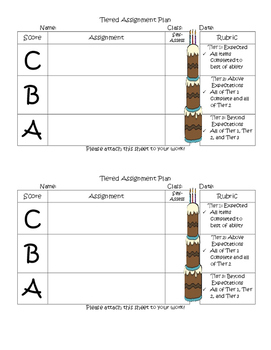 Tiered Assignment Plan template 3 Tiers