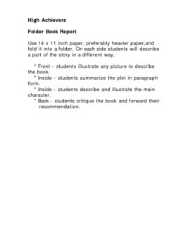 Tiered Book Report