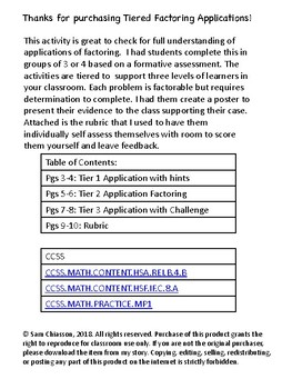 Tiered Factoring Application - Help the Police