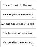 Tiered Fluency Strips-- BLACKLINE version