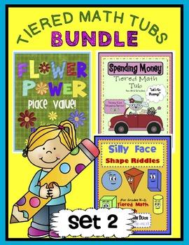 Tiered Math Tubs Bundle Set 2