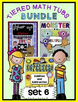Tiered Math Tubs Bundled Set 6